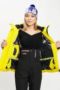 Оптом Горнолыжная куртка женская желтого цвета 77034J в Екатеринбурге, фото 9