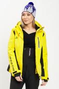 Оптом Горнолыжная куртка женская желтого цвета 77034J в Екатеринбурге, фото 8