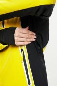 Оптом Горнолыжная куртка женская желтого цвета 77034J в Екатеринбурге, фото 6