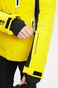 Оптом Горнолыжная куртка женская желтого цвета 77034J в Екатеринбурге, фото 7