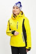 Оптом Горнолыжная куртка женская желтого цвета 77034J в Екатеринбурге, фото 3