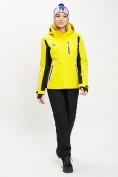 Оптом Горнолыжная куртка женская желтого цвета 77034J в Екатеринбурге, фото 5