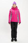 Оптом Горнолыжная куртка женская розового цвета 77034R в Екатеринбурге, фото 10
