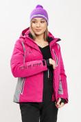 Оптом Горнолыжная куртка женская розового цвета 77034R в Екатеринбурге, фото 13