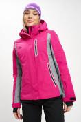 Оптом Горнолыжная куртка женская розового цвета 77034R в Екатеринбурге, фото 3