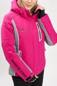 Оптом Горнолыжная куртка женская розового цвета 77034R в Екатеринбурге, фото 6