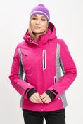 Оптом Горнолыжная куртка женская розового цвета 77034R в Екатеринбурге, фото 2