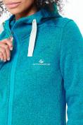 Оптом Толстовка женская голубого цвета 7722Gl в  Красноярске, фото 5