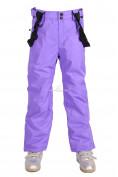 Оптом Брюки горнолыжные подростковые для девочки фиолетового цвета 816F, фото 3