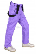 Оптом Брюки горнолыжные подростковые для девочки фиолетового цвета 816F, фото 4