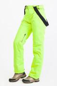 Оптом Брюки горнолыжные женские салатового цвета 818Sl, фото 5