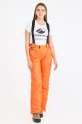 Оптом Брюки горнолыжные женские оранжевого цвета 818O в Перми