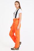 Оптом Брюки горнолыжные женские оранжевого цвета 818O в Перми, фото 2