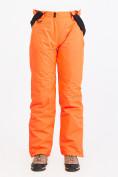 Оптом Брюки горнолыжные женские оранжевого цвета 818O в Нижнем Новгороде, фото 4