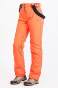 Оптом Брюки горнолыжные женские персикового цвета 818P в Екатеринбурге, фото 5
