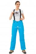 Оптом Брюки горнолыжные женские синего цвета 818S в  Красноярске