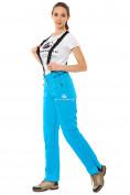 Оптом Брюки горнолыжные женские синего цвета 818S в  Красноярске, фото 3