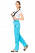 Оптом Брюки горнолыжные женские голубого цвета 818Gl, фото 4
