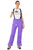 Оптом Брюки горнолыжные женские фиолетового цвета 818F в Перми