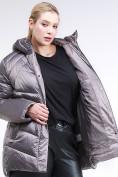 Оптом Куртка зимняя женская стеганная коричневого цвета 85-923_48K в Екатеринбурге, фото 6