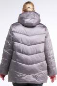 Оптом Куртка зимняя женская стеганная коричневого цвета 85-923_48K в Екатеринбурге, фото 4