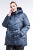 Оптом Куртка зимняя женская стеганная синего цвета 85-923_49S в Казани, фото 3
