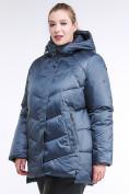 Оптом Куртка зимняя женская стеганная синего цвета 85-923_49S в Казани, фото 4