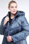 Оптом Куртка зимняя женская стеганная синего цвета 85-923_49S в Казани, фото 7