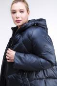 Оптом Куртка зимняя женская стеганная темно-синего цвета 85-923_5TS в Казани, фото 7