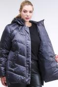 Оптом Куртка зимняя женская стеганная темно-фиолетовый цвета 85-923_889TF в Казани, фото 6
