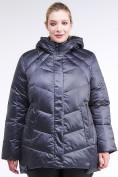 Оптом Куртка зимняя женская стеганная темно-фиолетовый цвета 85-923_889TF в Казани, фото 2