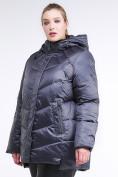 Оптом Куртка зимняя женская стеганная темно-фиолетовый цвета 85-923_889TF в Казани, фото 3