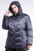 Оптом Куртка зимняя женская стеганная темно-фиолетовый цвета 85-923_889TF в Казани, фото 5