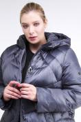 Оптом Куртка зимняя женская стеганная темно-фиолетовый цвета 85-923_889TF в Казани, фото 7