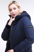 Оптом Куртка зимняя женская классическая темно-синего цвета 86-801_16TS в Казани, фото 7