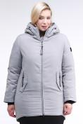 Оптом Куртка зимняя женская классическая серого цвета 86-801_20Sr в Казани, фото 2