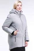 Оптом Куртка зимняя женская классическая серого цвета 86-801_20Sr в Казани, фото 3