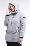 Оптом Куртка зимняя женская классическая серого цвета 86-801_20Sr в Казани, фото 5