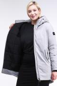 Оптом Куртка зимняя женская классическая серого цвета 86-801_20Sr в Казани, фото 7