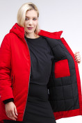 Оптом Куртка зимняя женская классическая красного цвета 86-801_4Kr в Екатеринбурге, фото 7