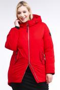 Оптом Куртка зимняя женская классическая красного цвета 86-801_4Kr в Екатеринбурге, фото 3