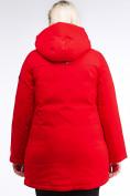 Оптом Куртка зимняя женская классическая красного цвета 86-801_4Kr в Екатеринбурге, фото 5