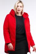Оптом Куртка зимняя женская классическая красного цвета 86-801_4Kr в Екатеринбурге, фото 6