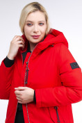 Оптом Куртка зимняя женская классическая красного цвета 86-801_4Kr в Екатеринбурге, фото 8