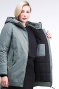 Оптом Куртка зимняя женская классическая цвета хаки 86-801_7Kh в Екатеринбурге, фото 7