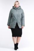 Оптом Куртка зимняя женская классическая цвета хаки 86-801_7Kh в Екатеринбурге