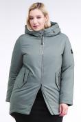 Оптом Куртка зимняя женская классическая цвета хаки 86-801_7Kh в Екатеринбурге, фото 3