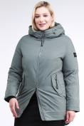 Оптом Куртка зимняя женская классическая цвета хаки 86-801_7Kh в Екатеринбурге, фото 4