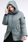 Оптом Куртка зимняя женская классическая цвета хаки 86-801_7Kh в Екатеринбурге, фото 6