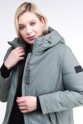 Оптом Куртка зимняя женская классическая цвета хаки 86-801_7Kh в Екатеринбурге, фото 8